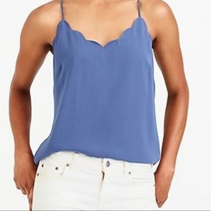 Blue J Crew Scalloped tank- Brand new with tags
